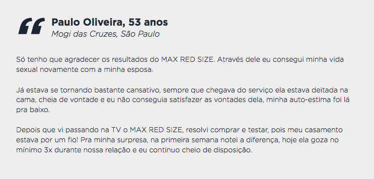 max red size depoimento 2