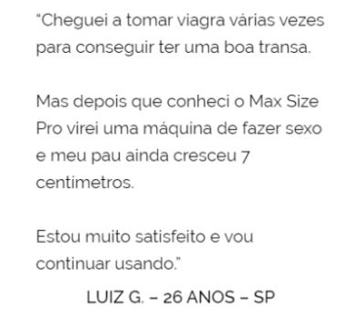 max size pro depoimento 2